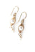 Birthstone June Gold Pearl Herringbone Earrings