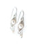 Birthstone June Silver Pearl Herringbone Earrings