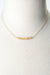 "Birthstone 16-18"" October Gold Opal Bar Necklace"