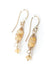 Birthstone October Gold Opal Herringbone Earrings