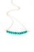 "Birthstone 16-18"" December Gold Turquoise Bar Necklace"