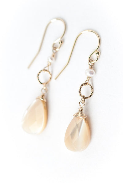 Bliss Mother of Pearl Dangle Earrings