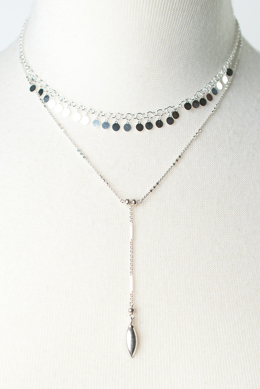 "Bloom 14-16"" Sterling Silver Multistrand Necklace"