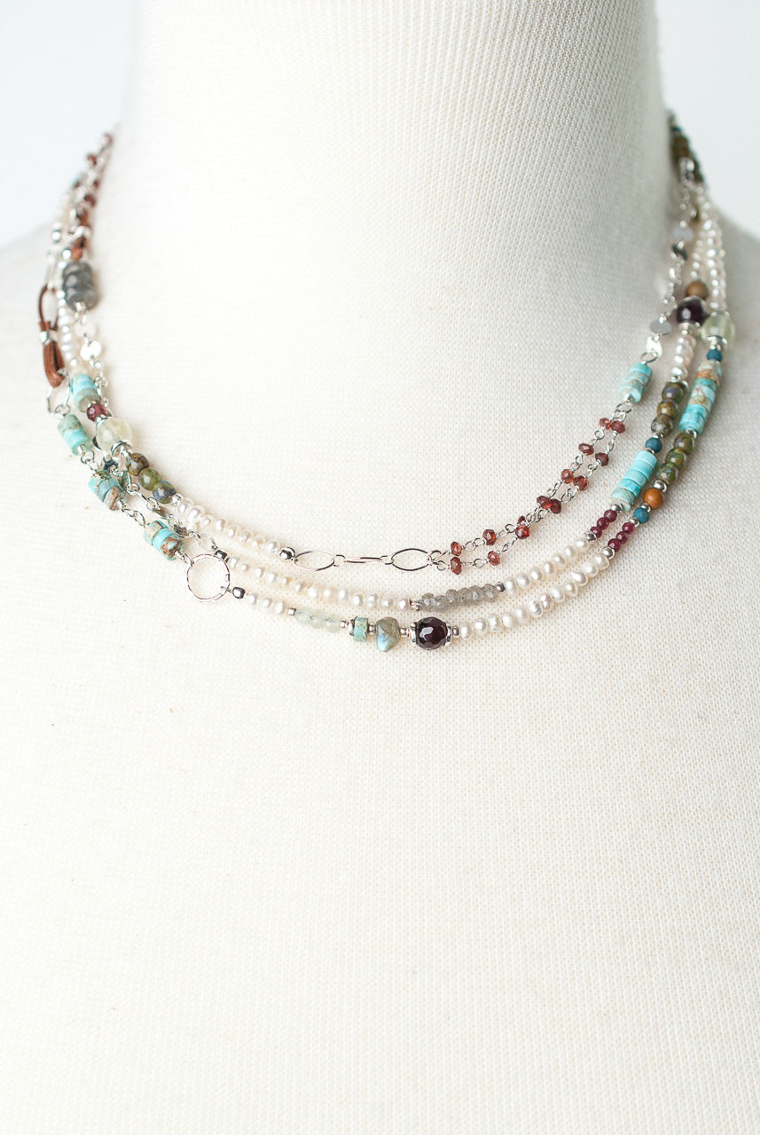 "Bloom 54-56"" Long Collage Wrap Necklace"