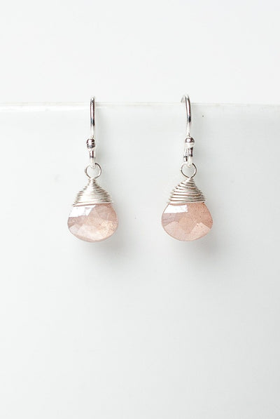 Blush Moonstone Briolette Earrings