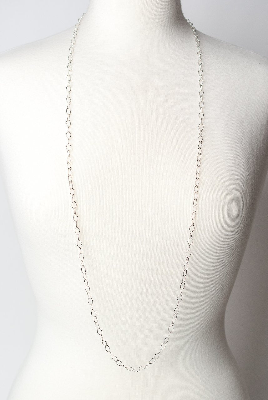 "*Blush 42-44"" Simple Silver Chain Necklace"
