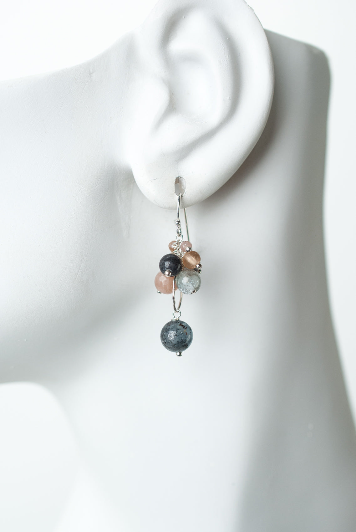 Cascades Gemstone Cluster Earrings
