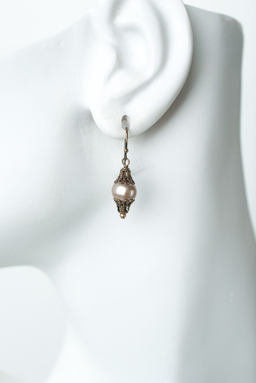 Cider Pearl Dangle Earrings