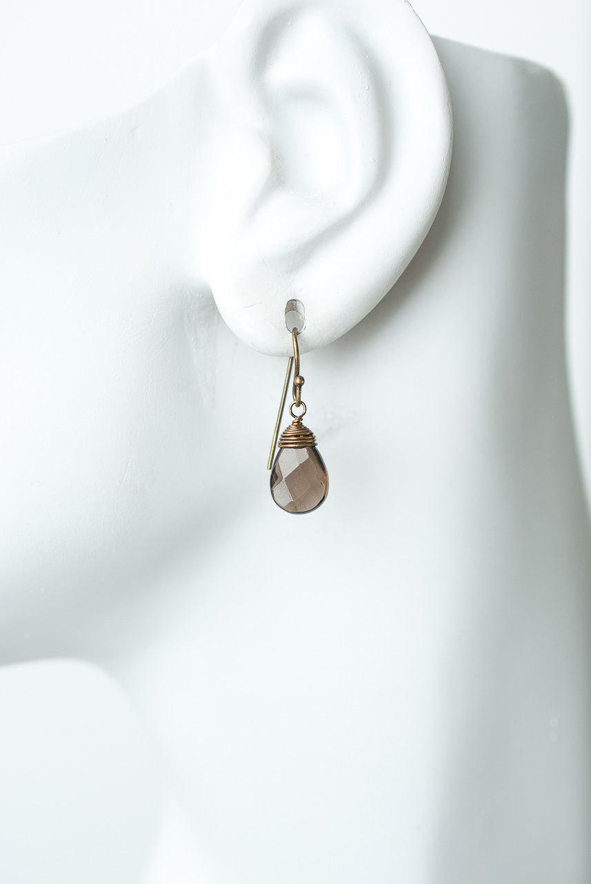 Cider Smokey Quartz Dangle Earrings