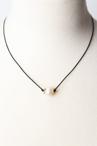 "Cosmos 17-19"" Pearl  Focal Necklace"