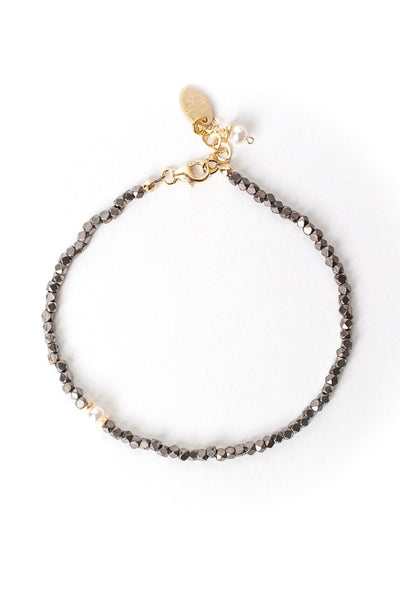 "Cosmos 7.5-8.5"" Simple Pearl Accent Bracelet"