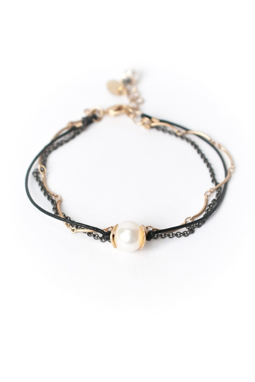 "Cosmos 7.5- 8.5"" Pearl Focal Multistrand Bracelet"