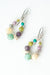 *Creek Waters Calcite, Amazonite, Turquoise, Czech Glass Dangle Earrings