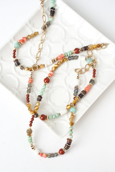 "Canyon 31-33"" Gemstone Collage Necklace"