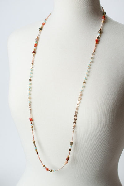 "Canyon 37-39"" Long Collage Necklace"