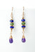 Carnival Amethyst Dangle Earrings