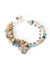 "Cascades 7.5-8.5"" Gemstone Multistrand Leather Bracelet"