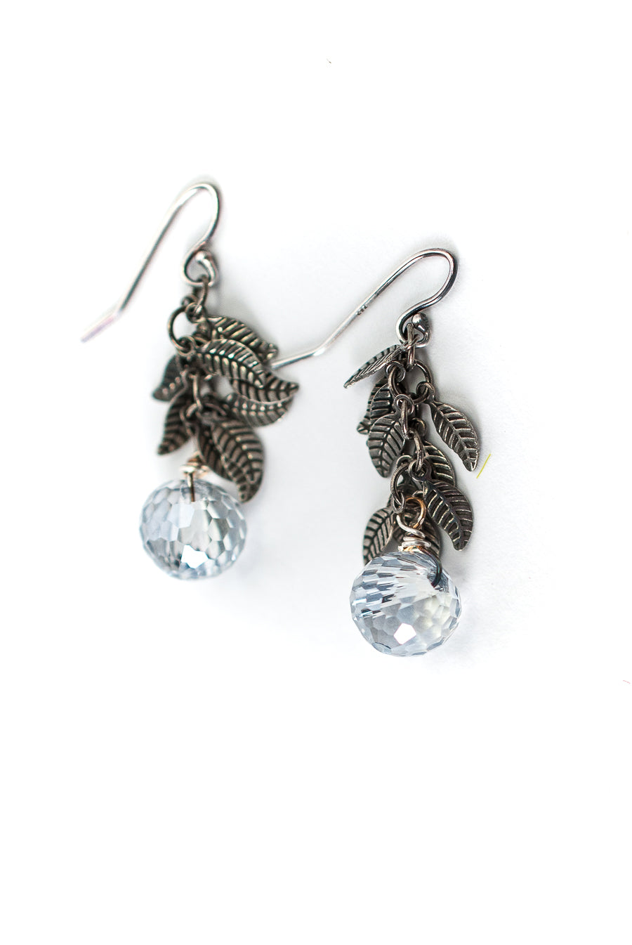 Claridad Leaf Crystal Dangle Earrings