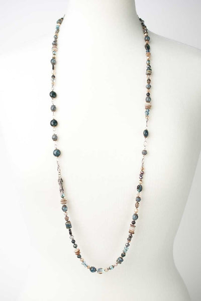 "Claridad 39-41"" Chunky Collage Necklace"