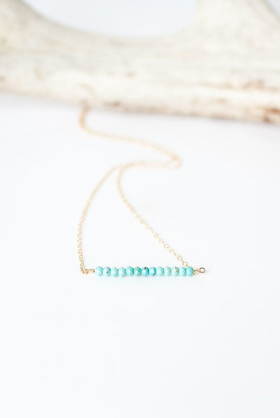 "Cody's Call 16-18"" Turquoise Bar Necklace"