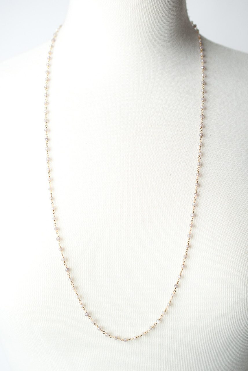 "Cody's Call 31-33"" Simple Moonstone Layer Necklace"