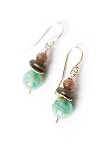 Cornucopia Simple Amazonite Dangle Earrings