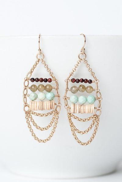 Cornucopia Gemstone Chandelier Earrings