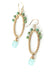 Desert Rose Matte Gold Hoop Chalcedony Dangle Earrings