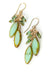Desert Rose Czech Glass Cascading Tassel Dangle Earrings