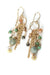 Desert Rose Gemstone Tassel Earrings