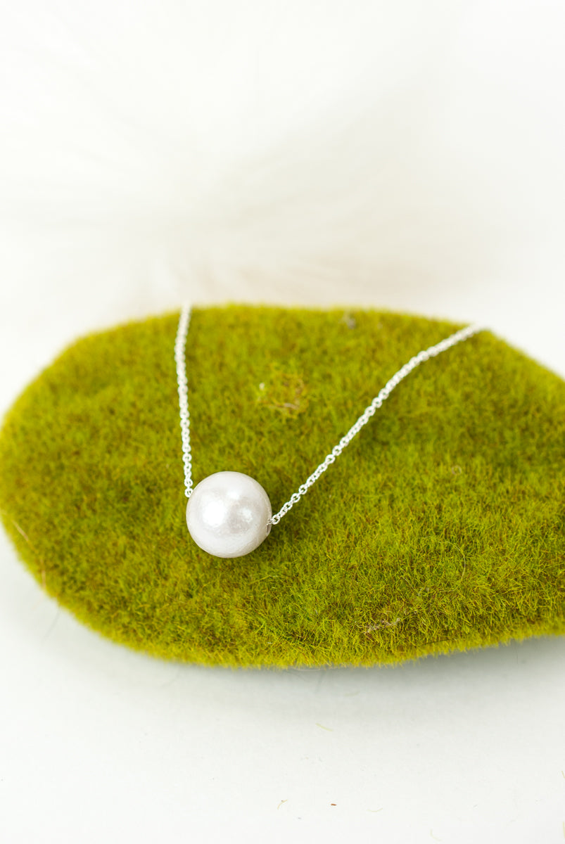 Hope Adjustable Silver Fresh Water Pearl Necklace