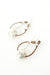 Everyday Fine Silver Leather Hoop Earrings