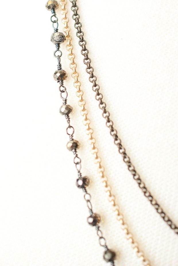 """Eat Love Pray 24-26"""" Simple Mulitstrand Necklace 1"""