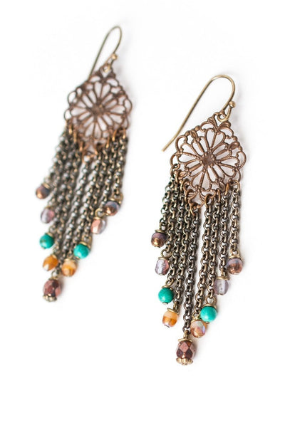 Eat Love Pray Chandelier Tassel Earrings