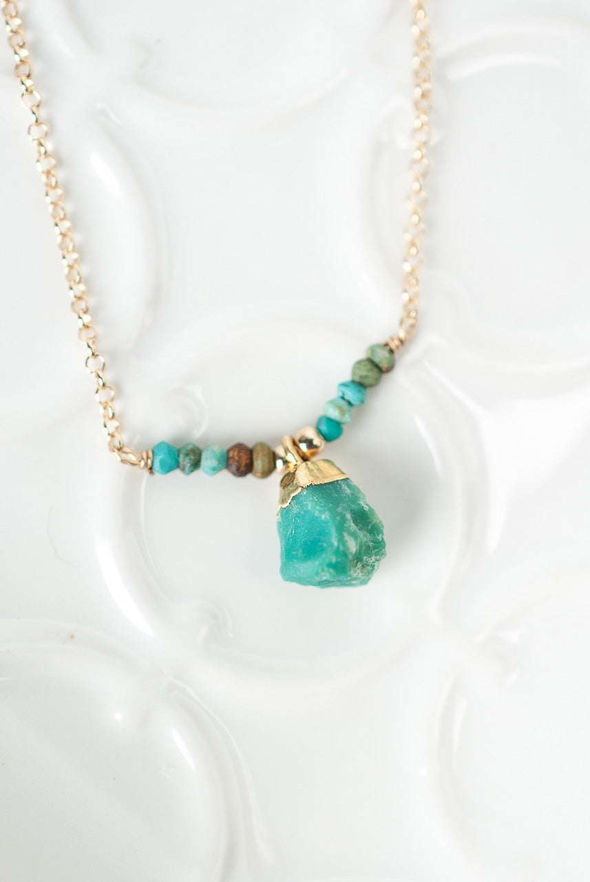 "Envy 14.5-16.5"" Turquoise Pendant Necklace"