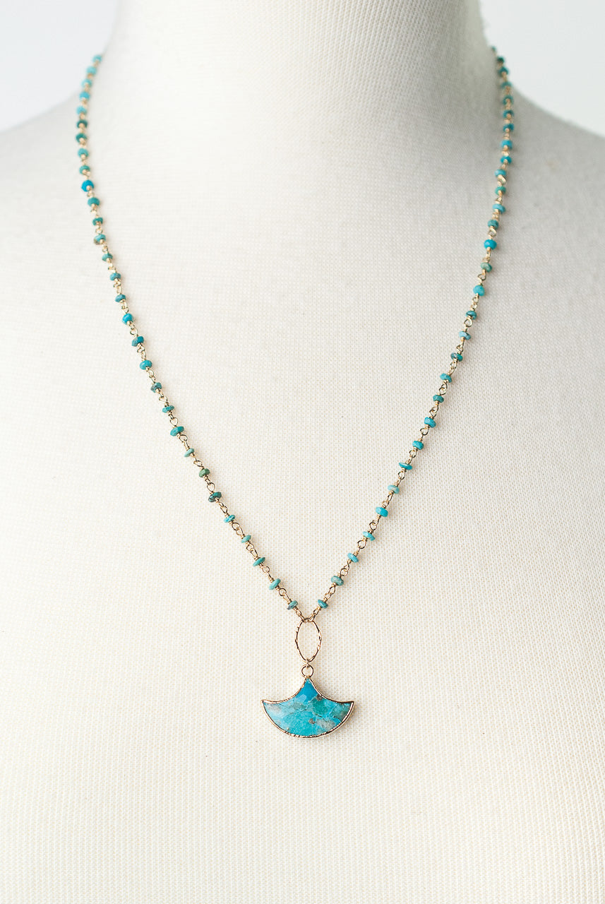 "Envy 22-24"" Turquoise Pendant Necklace"