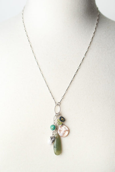 "Fresh Air 22-24"" Gemstone Cluster Focal Necklace"