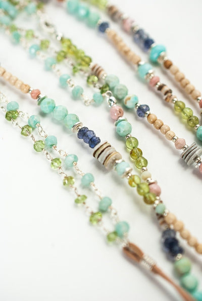"Fresh Air 50-52"" Long Gemstone CollageLayer Necklace"