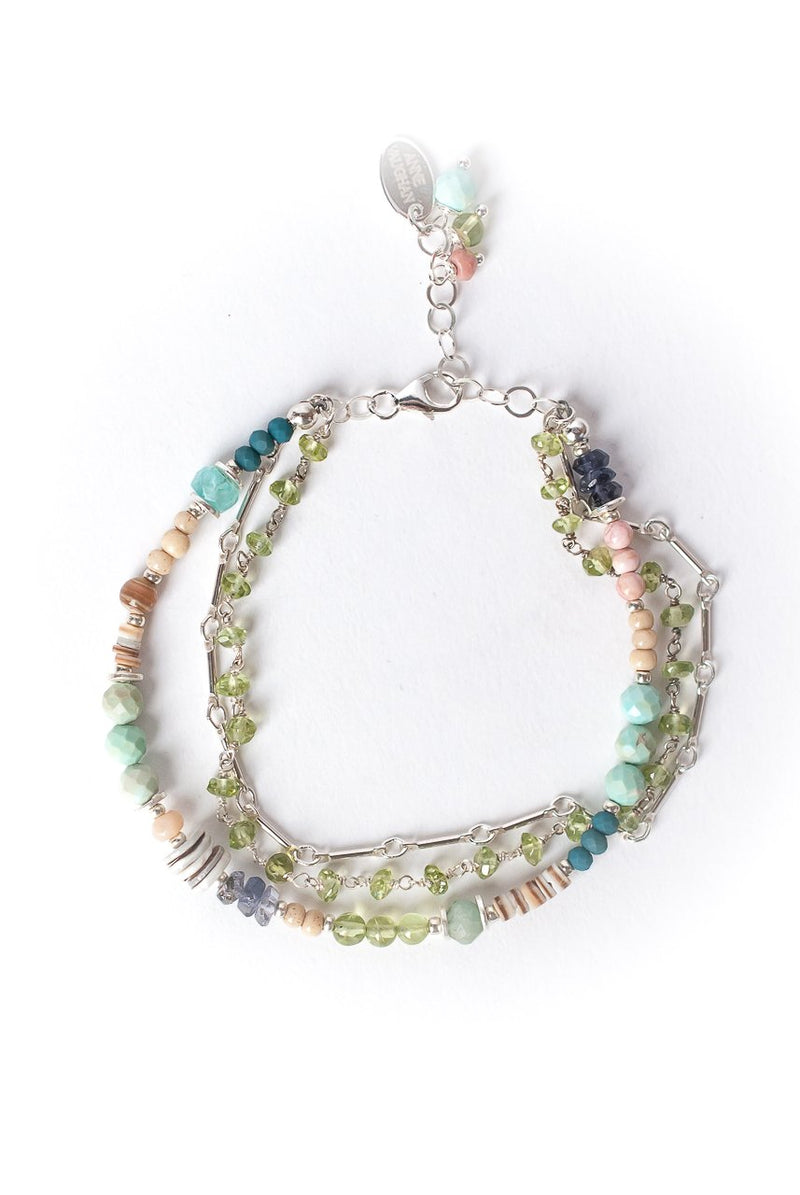 "Fresh Air 7-8"" Multistrand Collage Bracelet"