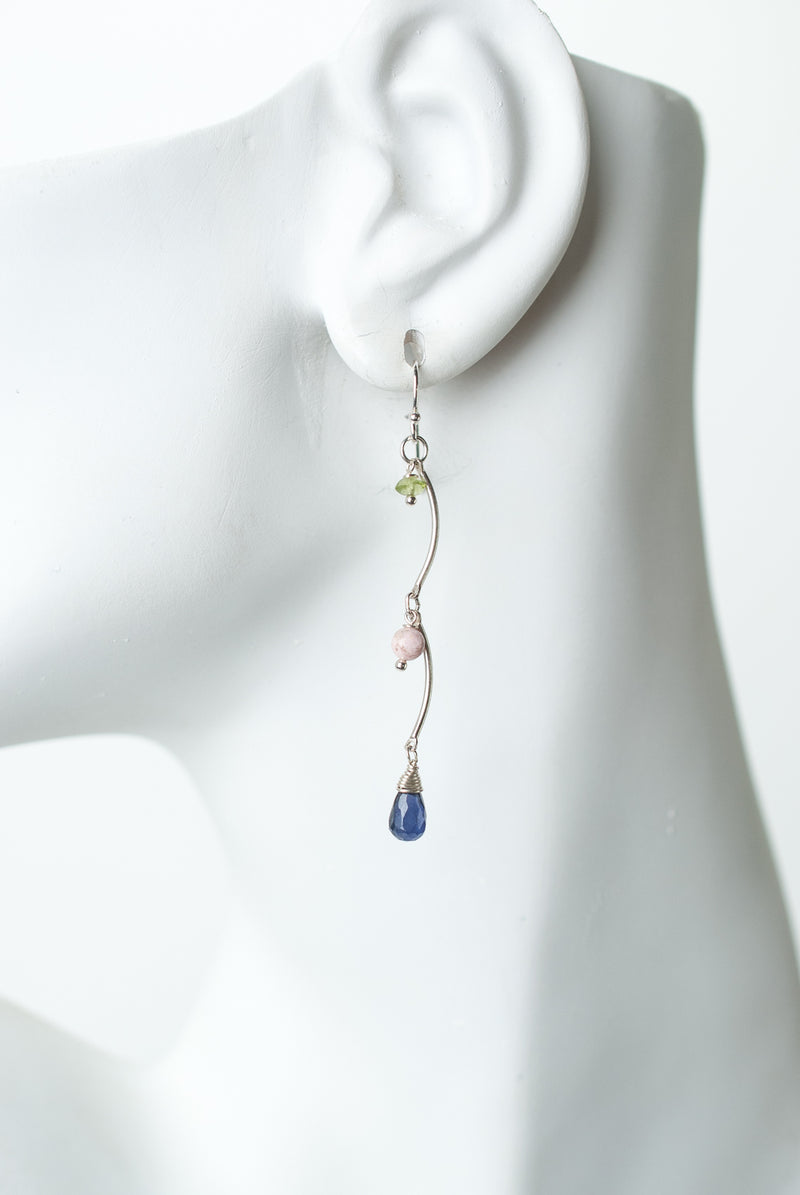 Fresh Air Silver Gemstone Dangle Earrings