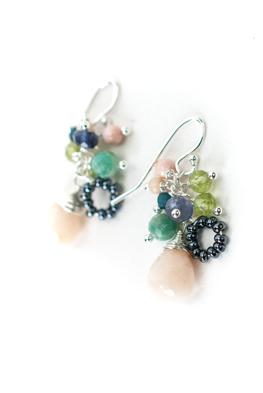 Fresh Air Gemstone Cluster Earrings