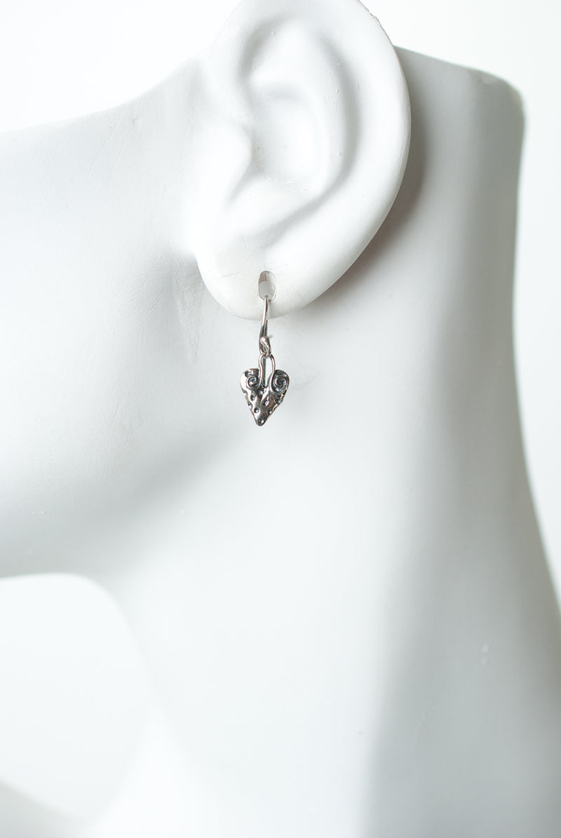 Fresh Air Fine Silver Heart Earrings