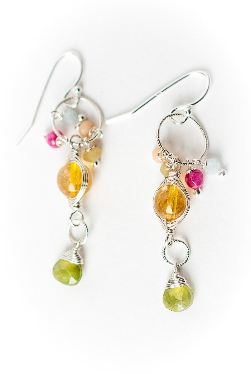 Free Spirit Gemstone Dangle Earrings
