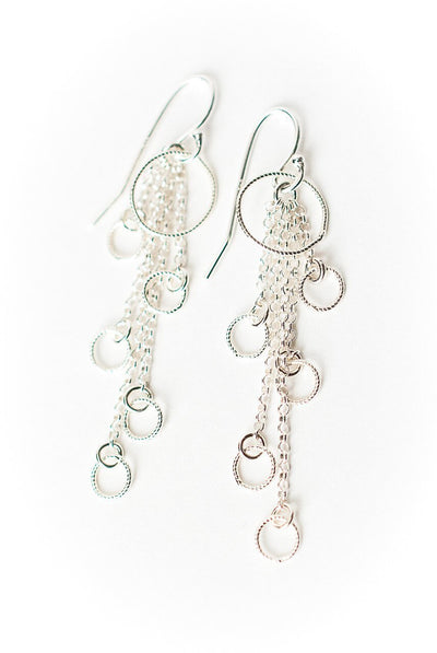 Free Spirit Sterling Silver Tassel Earrings
