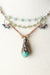 "Fresh Air 15.5-17.5"" Fine Silver Amazonite Focal Necklace"