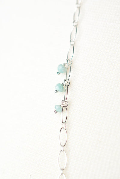 "Fresh Air 42-44"" Simple Sterling Silver Layer Necklace"