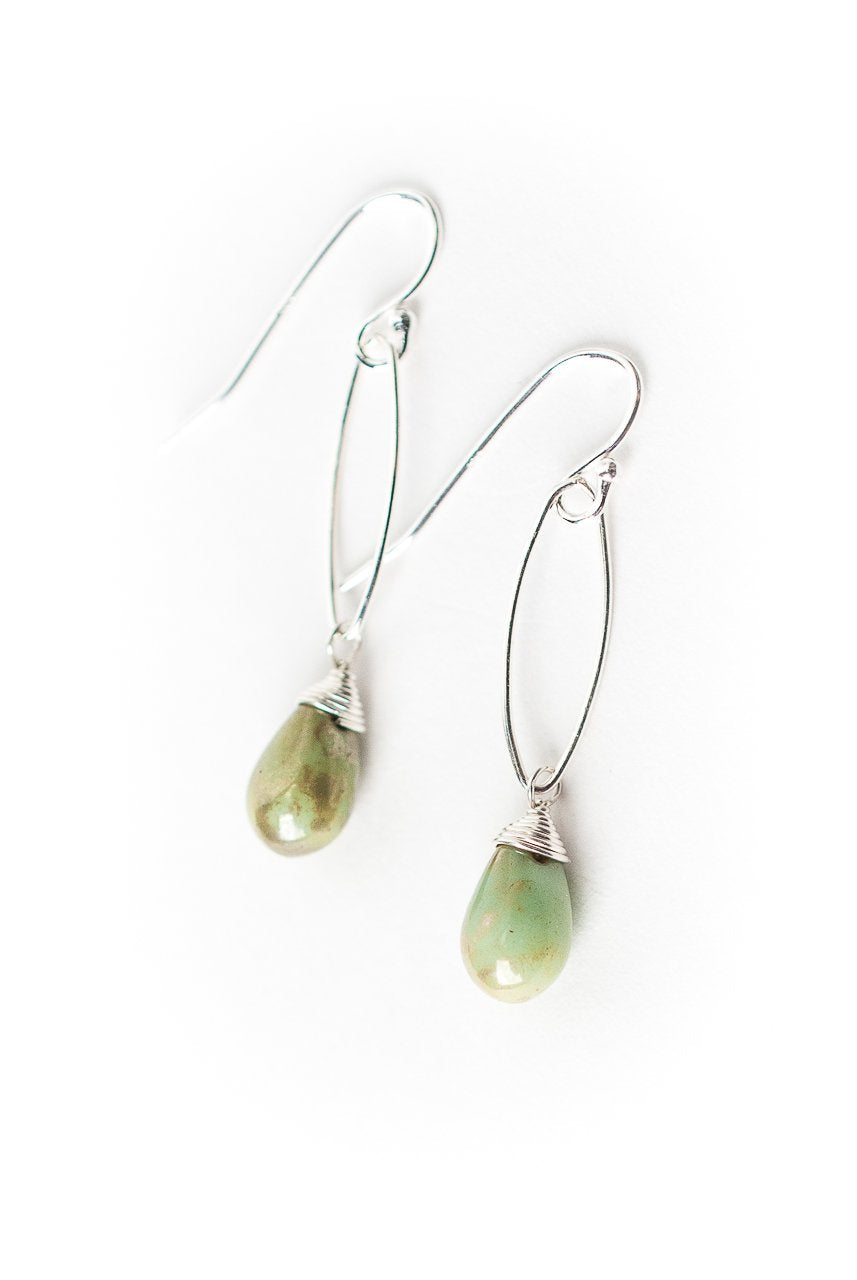 Gentle Breeze Czech Glass Dangle Earrings