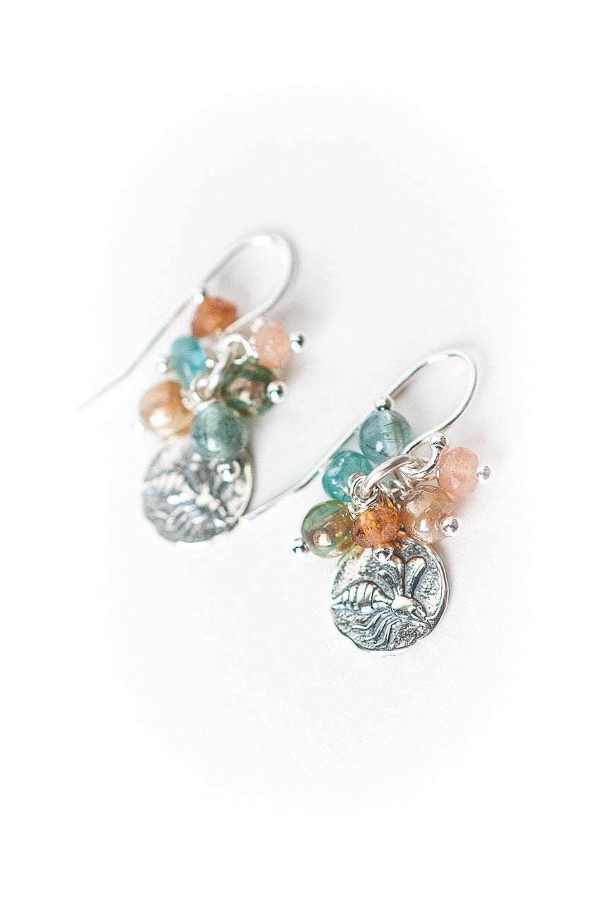 Gentle Breeze Honey Bee Cluster Earrings
