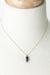 "Intrigue 15.5-17.5"" Lapis Point Simple Focal Necklace"