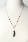"Intuition 23-25"" Faceted Rutilated Quartz Pendant Necklace"